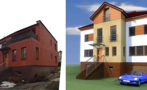 Rozbudowa i nadbudowa budynku jednorodzinnego w Dobrzanach